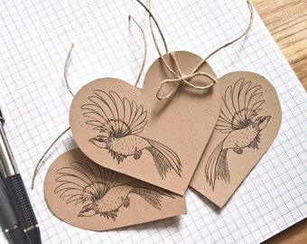 Handmade Bird Gift Tags - Designer Journal Tags