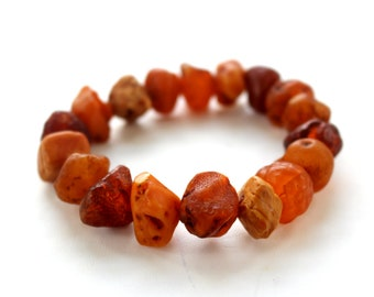 Baltic Amber Jewelry Bracelet Nodule Drops Raw Untreated Natural 26 gram