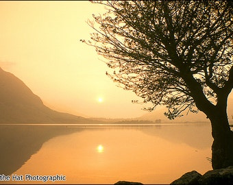 Crummock Water - Premium English Landscape Photograph by Pro Photographer. Decorative Wall Art Print. Lake District Sunset Scene.