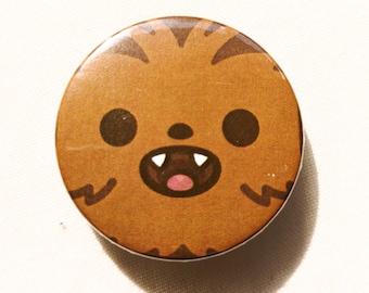Chewbacca Pin Button Badge - Star Wars - Solo - Cute - 38mm