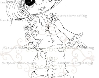 INSTANT DOWNLOAD Digital Digi Stamps Big Eye Big Head Dolls Messy Bessy IMG827 My Besties By Sherri Baldy