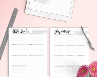 iPad PRO - Perpetual planner (44 pages) - Months, days and much more - for procreateapp