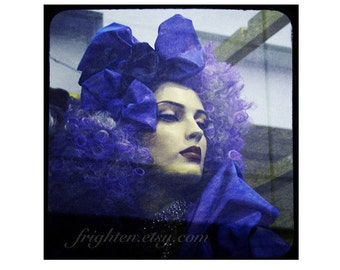 Mannequin Photography Print, Ultra Violet Purple Art, Window Display, Bedroom Decor, Glamorous Wall Art