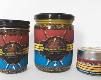 Amazonian Princess | Wonder Woman Inspired Candle | Orange Blossom, Ozone, and Musk