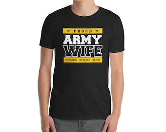 Proud Army Wife T Shirt My Husband, My Hero, patriotic army family shirt, proud military wife, army wife quotes or gifts for army wife