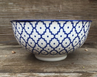 """18th century inspired """"Delft"""" bowl"""