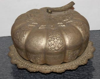 Victorian Pumpkin Halloween Bowl Gothic Decor 3 Piece Set Unusual and Spooky