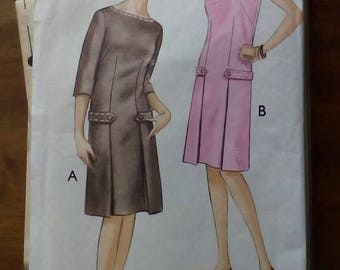 """1960s Dress - 34"""" Bust - Style 1515 - Vintage Retro Sewing Pattern"""