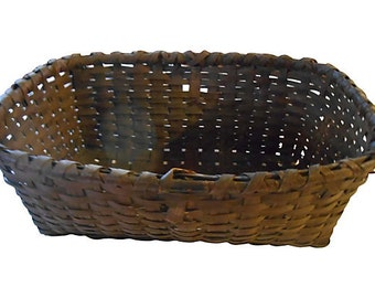 Antique Flower Gathering Basket