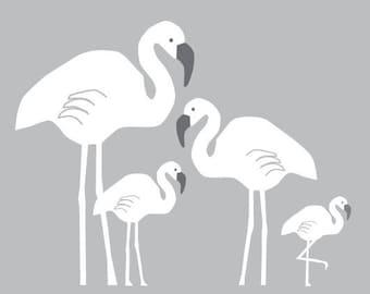 Flamingo Family Vinyl Wall Decals