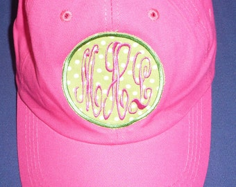 Monogrammed baseball hat, children, toddlers and women