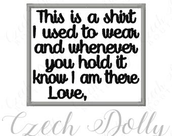 """CUSTOM This is a shirt I used to wear Love """"custom name"""" Iron On or Sew On Patch Memorial Memory Patch for Shirt Pillows"""