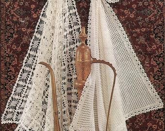 Shawls, Christening Blankets, Crochet Pattern. PDF Instant Download.