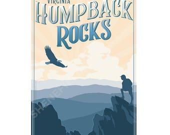 Virginia Humpback Rocks, Blue Ridge Mountains and Shenandoah Valley