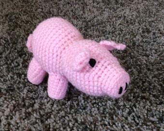 Crochet Pig Stuffed Animal