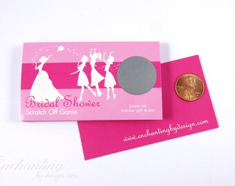 Hot Pink Bridal Shower Scratch Off Cards - Bridal Shower Game - Bachelorette Party Game