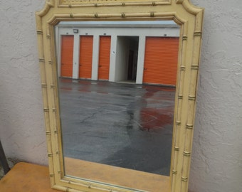 MOROCCAN AND ROLLIN' / Moroccan Style Faux Bamboo Thomasville Mirror / Hollywood Regency / Palm Beach Chic