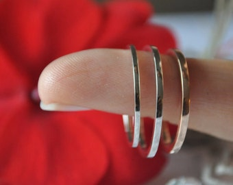 Personalized ring .75 1mm 1.25mm wedding band ring thin slim skinny narrow low tapered round flat domed hammered satin brushed custom matte