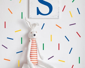 Rainbow Sprinkles Wall Decals // Peel and Stick Confetti // Nursery Decor //  Renters Wall Paper // Playroom Art // Bedroom Wall Stickers