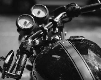 Throttle - Modern Triumph Motorcycle Series - 8x12 Black and White Fine Art Print