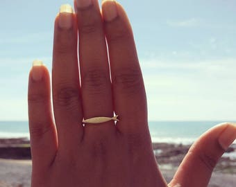 Fish Ring, Stacking Ring, Pisces Ring, Swimming, Swimmer