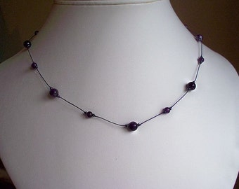 Purple Amethyst Semi-precious Necklace - carefully hand knotted