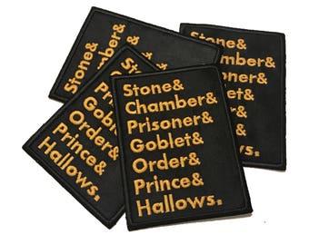 Harry Potter Patch, Hogwarts, Pottermore, gold, black, patches