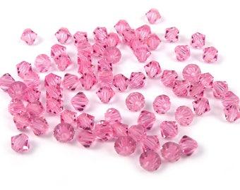 50 x Crystal bicone Swarovski® 4 mm LIGHT pink