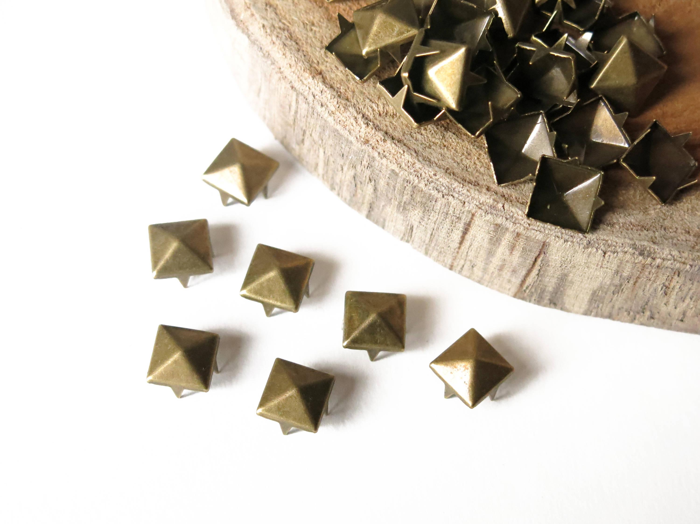 50 custom bronze nails 9 mm