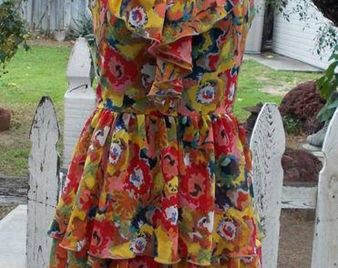 Rachel Roy Floral Multi-color Polyester Career Sleeveless Womens Above The Knee Mini Summer Dress Size 2