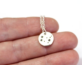 Gemini Sterling silver Constellation, Necklace Silver Plated, Gemini Necklace, Zodiac Necklace, Zodiac Jewelry, Birthday Gift