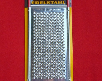 Vintage 70's NOS (New Old Stock) Stainless Steel Cheese Grater, Fisko Germany GR101
