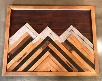 Reclaimed Wood Art, Mountain Art, Wall Decor, Reclaimed Wood, Mountains, Art, Wood Art, Pacific Northwest, Home Decor, Landscape, Outdoors
