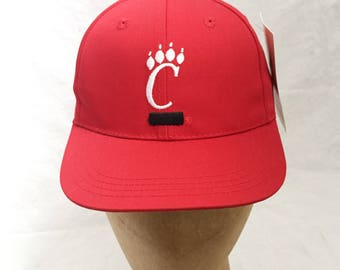 vintage cincinnati bearcats snapback hat annco deadstock NWT youth OSFA 90s