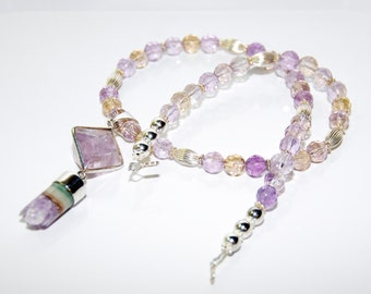 Ametrine & Sterling Silver Necklace and Earrings  #131