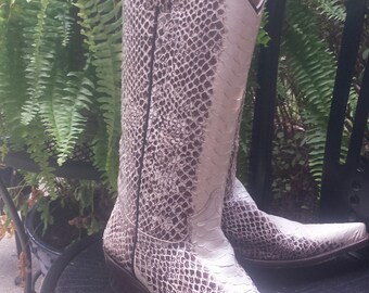 Python Cowboy Western Boots