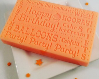 Happy Birthday Soap / Birthday Favors / Birthday Party Favors / Food Soap