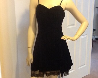 Black velvet and lace party dress