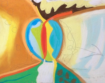 Original, colourful, absract, intuitive, organic, drawing/painting