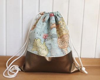 Gymnastic Bag World map