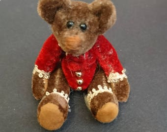 Vintage Mini Handmade Teddy Bear
