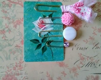 Pink Shabby Chic Paperclips, Planner Accessories, Journal Accessories, Agenda Accessories