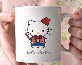 Hello Kitty 11 Doctor Who coffee cup