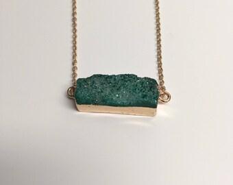 druzy, druzy necklace, druzy pendant, druzy jewelry, green druzy, druzy green, crystal necklace, crystal jewelry, crystal jewellery, jewlery