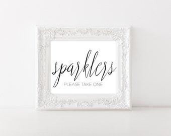 Wedding Sparkler Sign - Sparkler Send Off Sign - Wedding Sparkler Sendoff Sign - Sparklers Please Take One Sign - Wedding Printable Sign