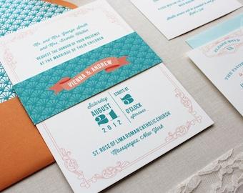 Art Deco Wedding Invitations, Wedding Invitation, 1920's, Classic Retro, Custom Wedding Invitation Suite - Antiquarian Deposit