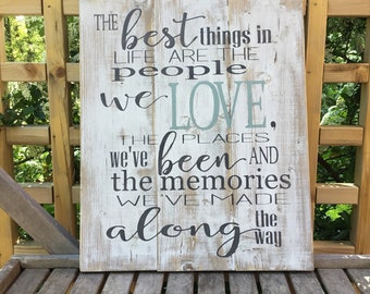 The best things in life,wood sign saying,bedroom decor,gallery wall decor,family wall decor,farmhouse chic ,wedding sign,rustic bedroom sign