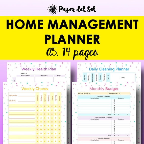Home Organization Printables Home Binder Household - Organization printables