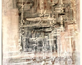 """A Minimalist Abstract and Original Painting, """"Shifting Sand"""" - Neutral"""