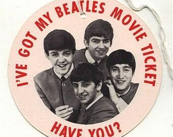 Original 1964 Beatles Movie Promo Hang Tag HARD DAY'S NIGHT
